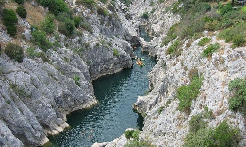 Gorges de l'Hérault près du Domaine de Salente
