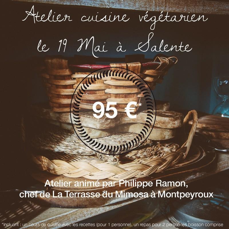 Ateliers cuisine au Domaine de Salente, Hérault (34150)
