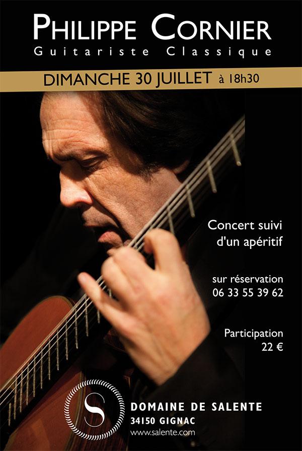 Concert Philippe Cornier au Domaine de Salente, Hérault (34150)