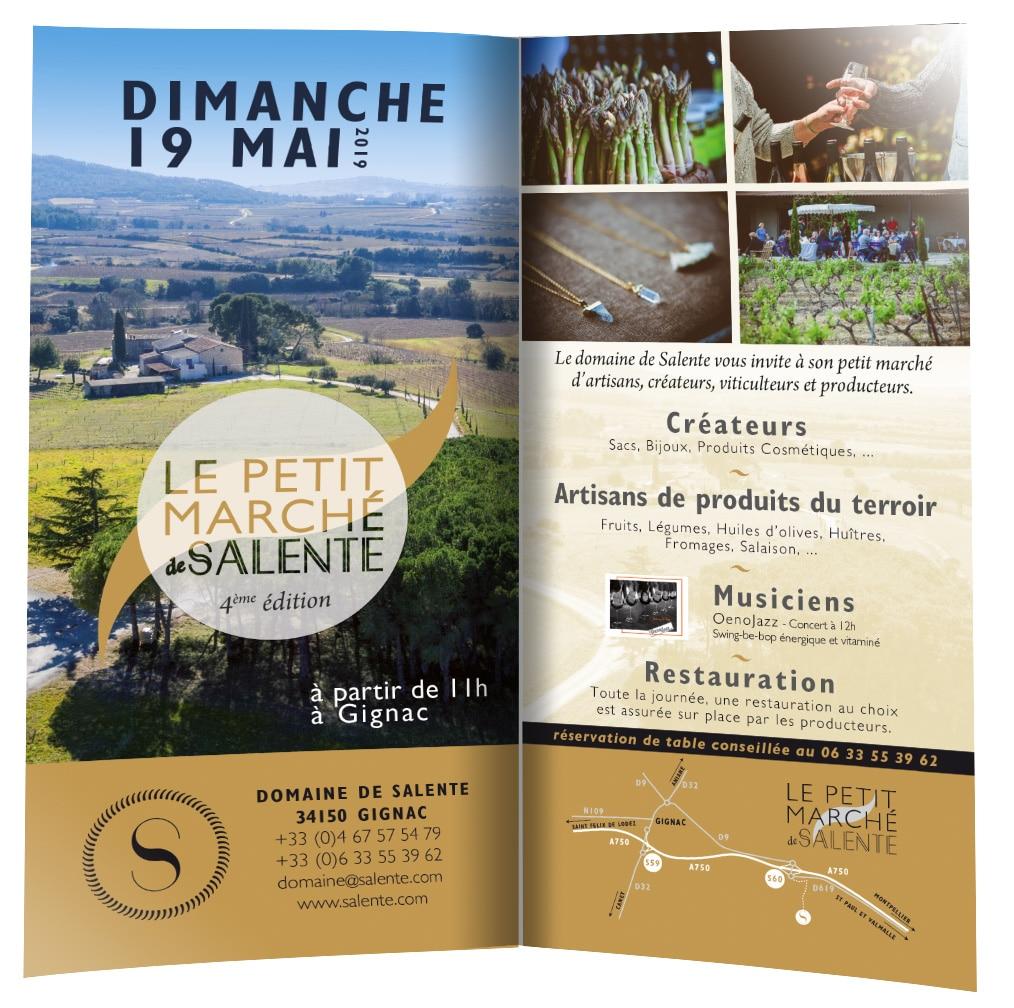 Marché de Salente 4ème édition 2019 au Domaine de Salente (34150)